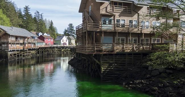 Man dumps non-toxic green dye into Alaska creek as a prank
