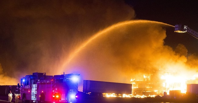 Firefighter injured in five-alarm fire in Arizona