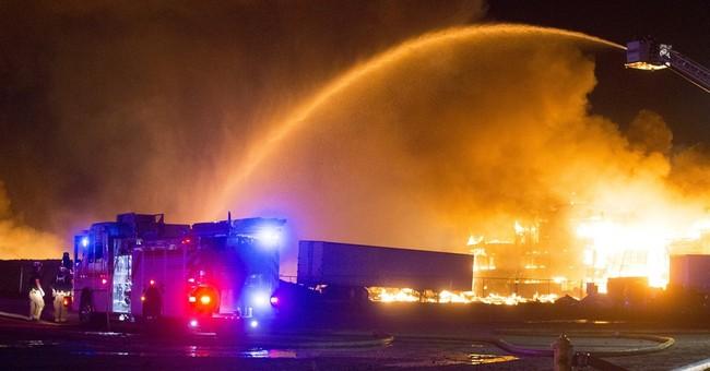 Firefighter injured in five-alarm fire in Arizona