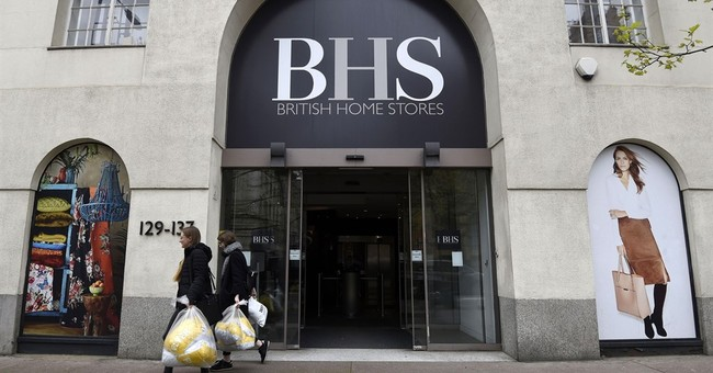 Beleaguered department store BHS goes into administration