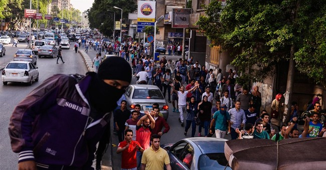 Egyptian rights group says 237 protesters arrested in Cairo