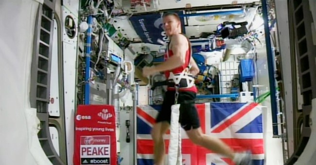 UK astronaut Tim Peake runs marathon aboard space station