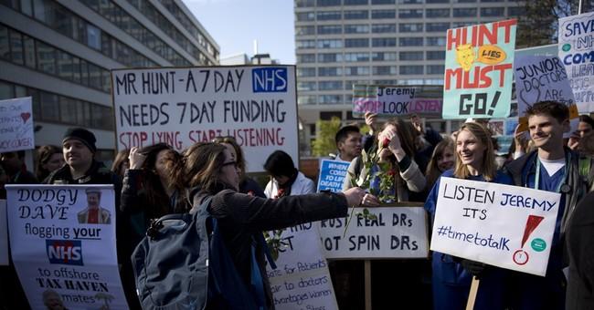 Battle over health care: UK doctors walk off the job