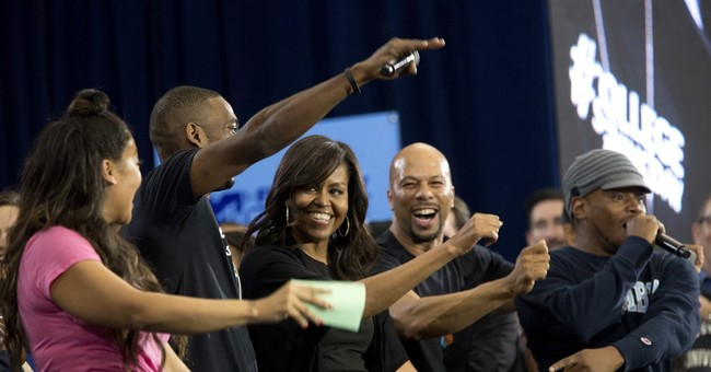Michelle Obama encourages New York students to reach higher