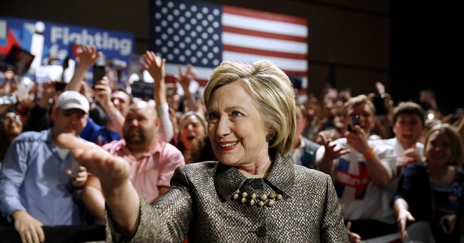 Clinton surges to nomination with 4 more Northeast wins