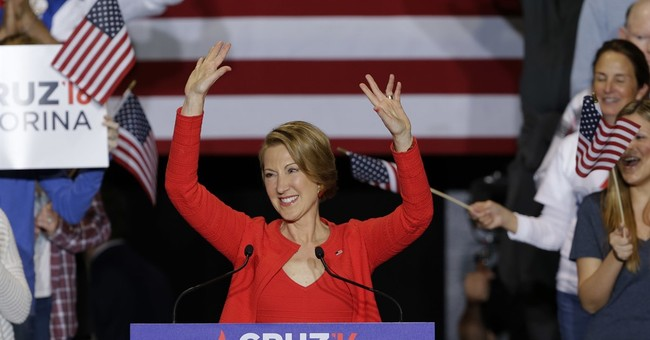 The Latest: Trump mocks Cruz choice of Fiorina for VP