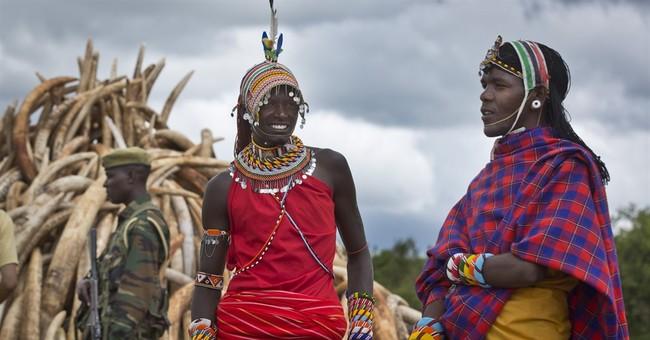 Kenya burns huge pile of ivory tusks to protest poaching