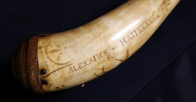 Powder horn believed owned by Alexander Hamilton sold
