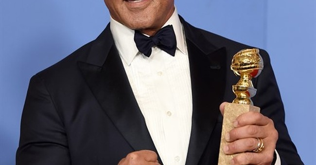 Stallone thanks 'Creed' director, co-star after Globes