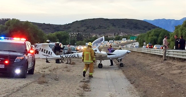 Small plane makes emergency landing on California freeway