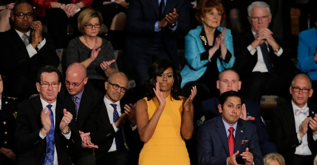 First lady wears sunny shift for State of the Union