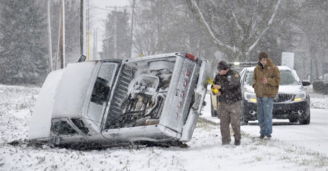 Snow squalls cause pileups in Indiana; Interstate 74 closed