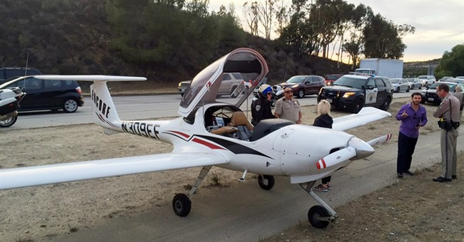 Small plane makes emergency landing on California freeway