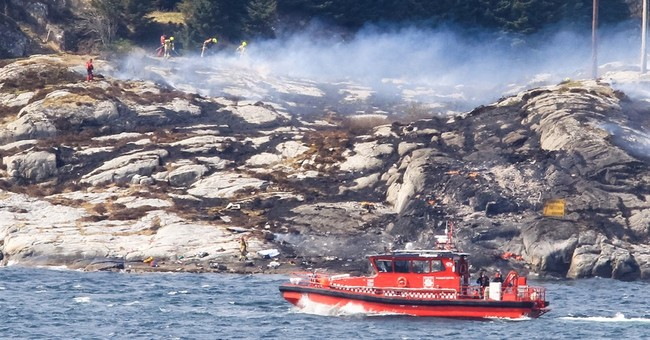 The Latest: Black boxes found in Norwegian helicopter crash