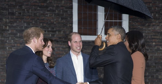 Obamas engage in sports trash talk with royal family