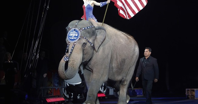 Last dance: Final performance for Ringling Bros. elephants