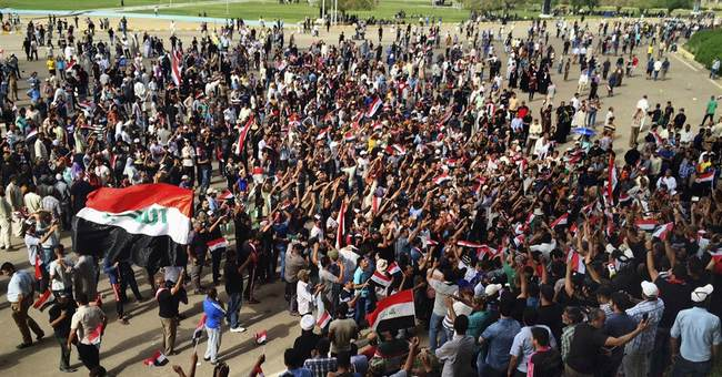 The Latest: Iraqis announce disbanding of Green Zone protest