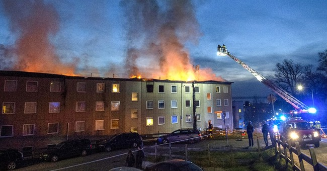 Swedish apartment building fire forces evacuation of 150