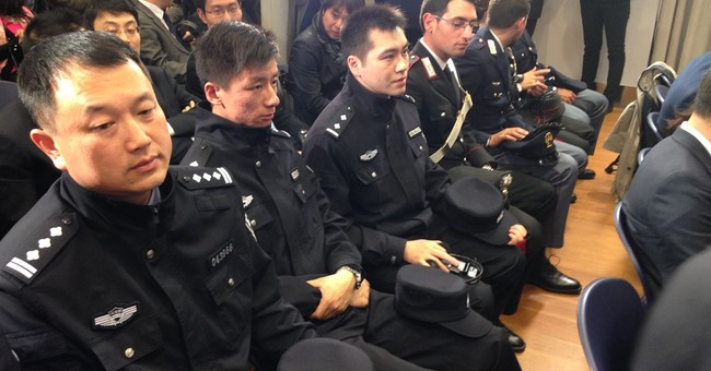 Chinese police patrol in Italy to make tourists feel safer