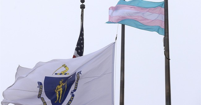 Transgender pride flag raised at Boston City Hall