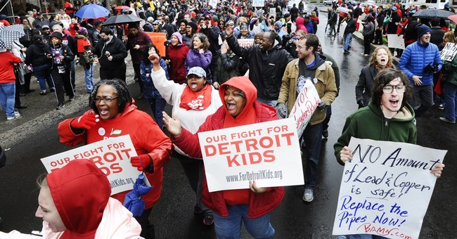 Sick-out by teachers shuts nearly all Detroit public schools