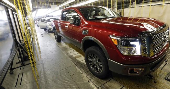 Auto sales hit April record on trucks and SUVs