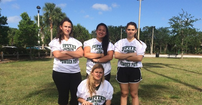 School sacks nation's last tackle powder-puff football game