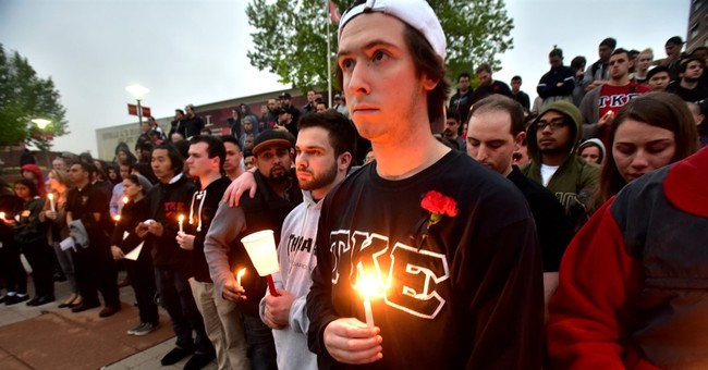 The Latest: 2nd arrest in fatal fraternity house shooting