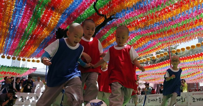 Image of Asia: Little monk soccer in South Korea