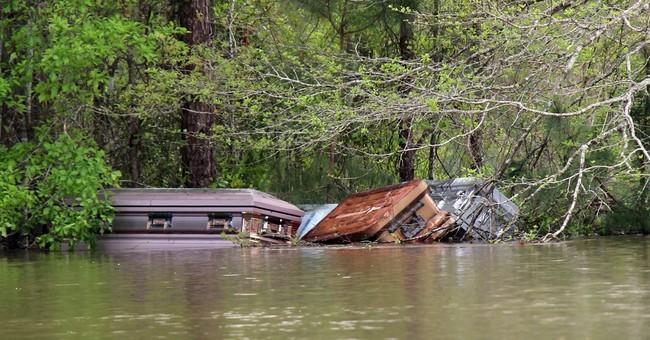 Louisiana flooding sends caskets far and wide