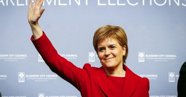 The Latest: Scottish National Party plans minority gov't