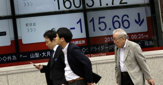 Global shares lower ahead of closely watched US jobs report