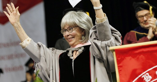 Rita Moreno busts a rhyme at Berklee commencement ceremony