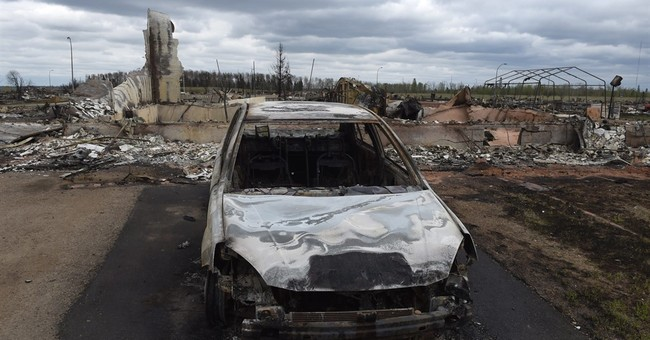 Most of Canada's oil sands production shut down by wildfire