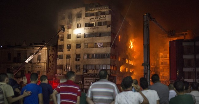 Massive fire in downtown Cairo injures 74 people