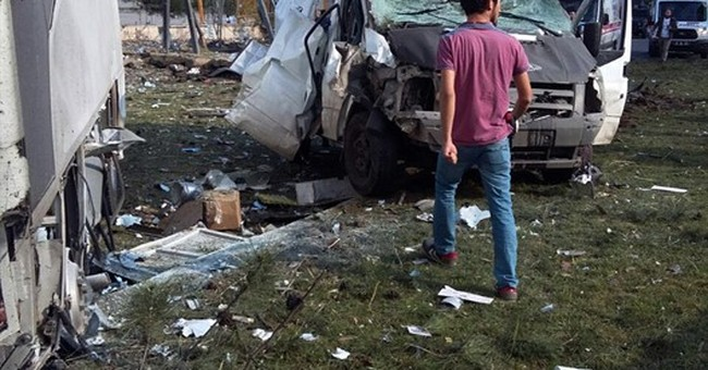3 killed, 45 wounded in Turkey car bombing blamed on Kurds