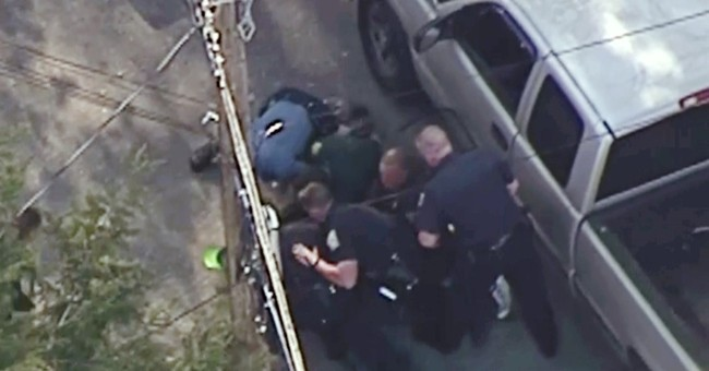 Video: Police pummel driver after 2-state high-speed pursuit