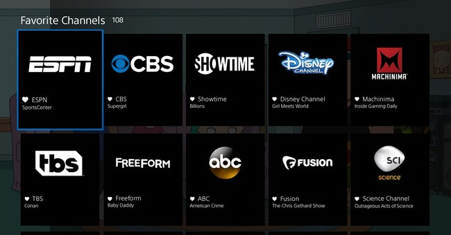 What you get from Dish and Sony online TV channels
