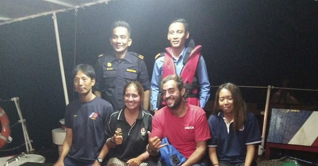 Flying fish and a movie help save 4 people lost at sea