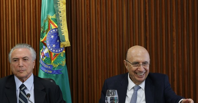 The Latest:  Brazil finance minister wants pension reforms