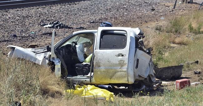 California Amtrak train slams into pickup, killing 3 men