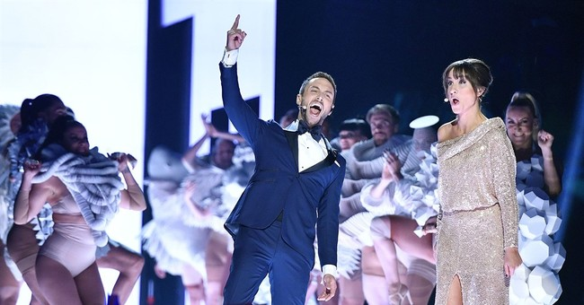 The Latest: Timberlake performs at Eurovision Song Contest