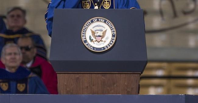 Biden, Boehner share award at Notre Dame graduation