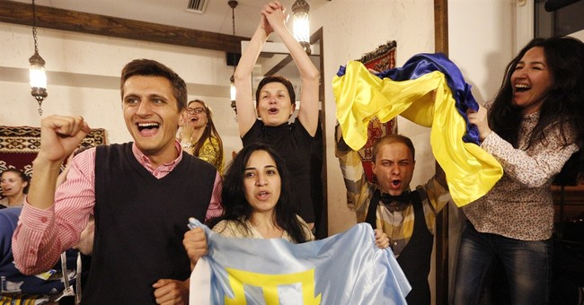Crimean Tatars celebrate Eurovision win, Russians cry foul
