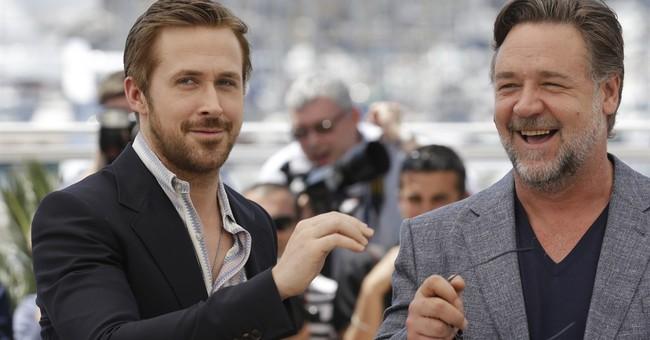 In Cannes, Russell Crowe mocks method acting
