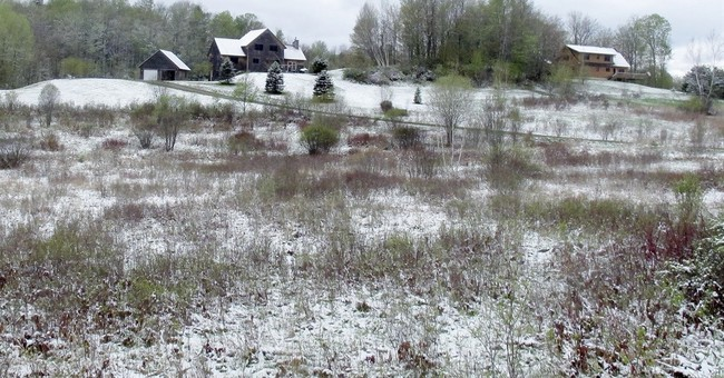 Residents in northern New England awaken to snow in mid-May