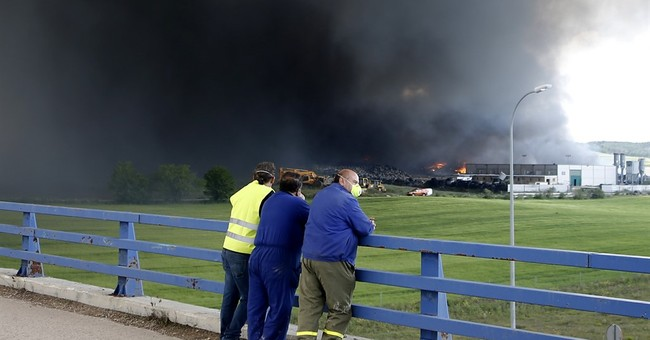 Fire that raged in vast Spanish tire dump now under control