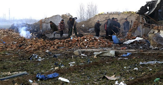Blast in fireworks factory kills 5 in central Chinese town