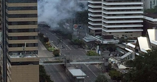 Jakarta attacks in busy area filled with Western brands
