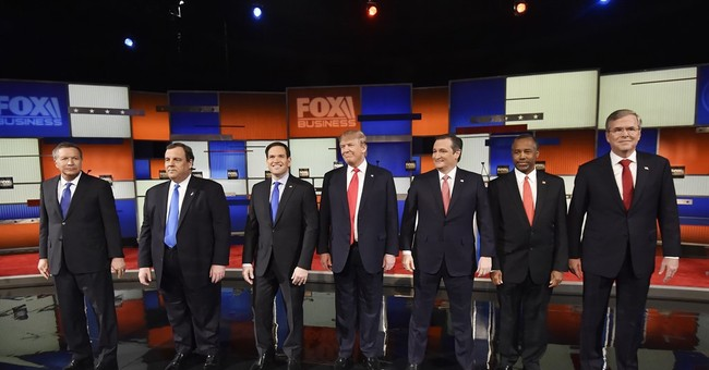 Trump, Cruz go at each other in year's first GOP debate